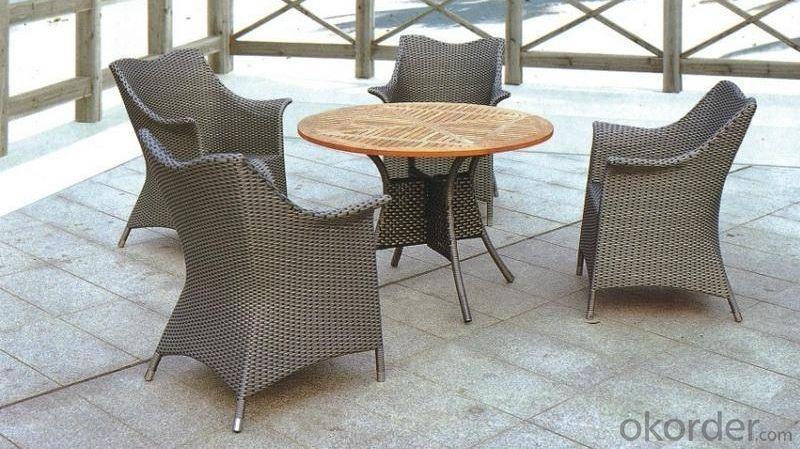 Aluminum Wicker Rattan Outdoor Garden Table