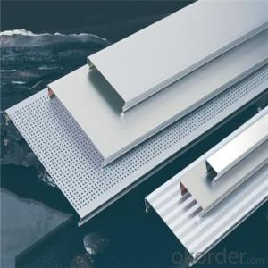 Metal ceiling clip in type perforated aluminum