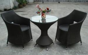 Aluminum PE Wicker Rattan Patio Leisure Outdoor Garden Dining Table
