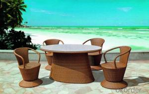 Aluminum PE Wicker Rattan Outdoor Garden Table