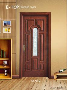 Solid wooden glass door single door  with best quality