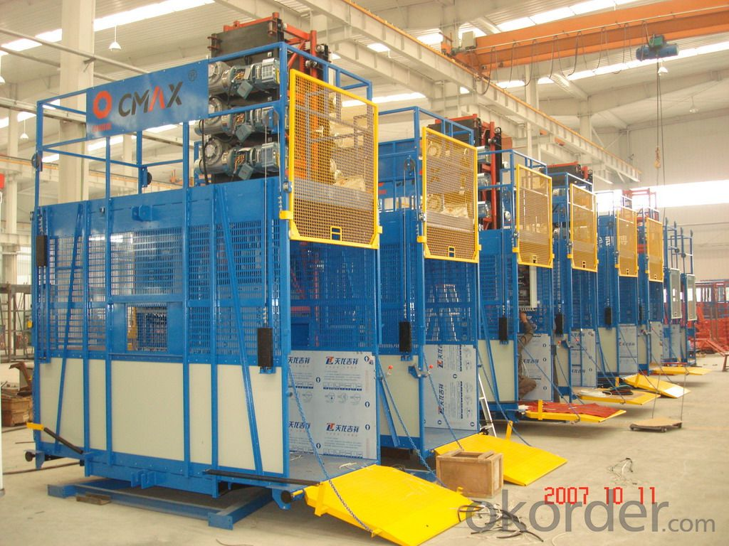 Building hoist SC150  ,Designed Cage Interior Improves Comfortableness
