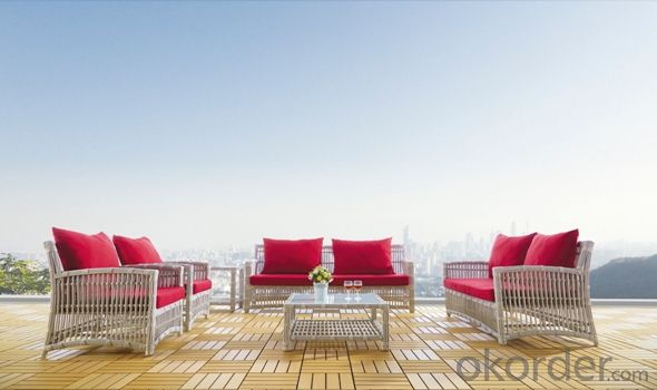 Aluminium Cane Rattan Garden Sofa Furniture Set