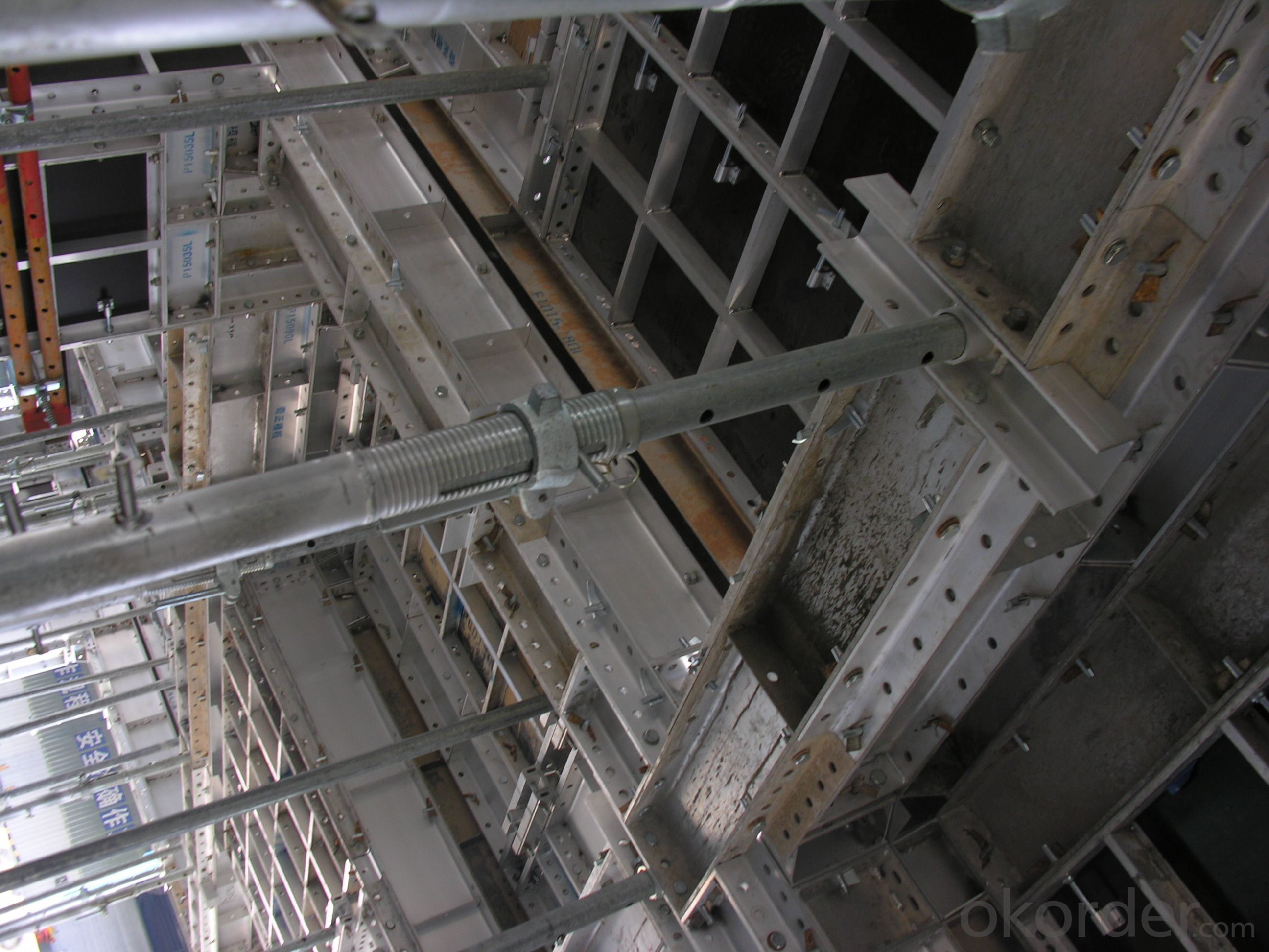 WHOLE ALUMINUM FORMWORK SYSTEMS and SCAFFOLDINGS FOR COLUMN CONSTRUCTION