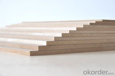 Plain MDF Board 18x1830x3660mm  Light Color  Decoration materials