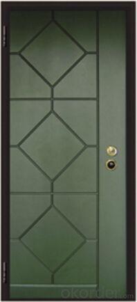 Italian Armored Entry Style Steel Wooden Door