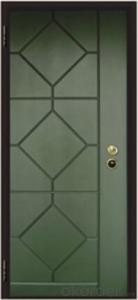 Italian Armored Entry Style Steel Wooden Door