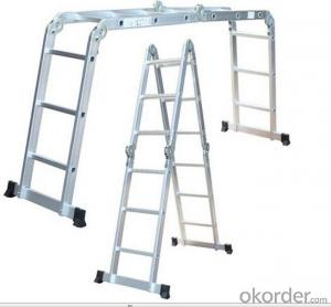 Aluminium Tool En131 Multifunction Extention Folding Articulated Ladder Scaffold (XP-403B)