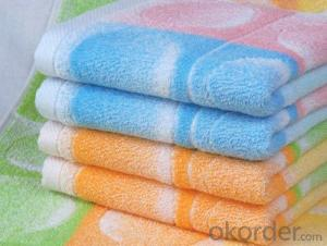 Microfiber cleaning towel with complex woven design