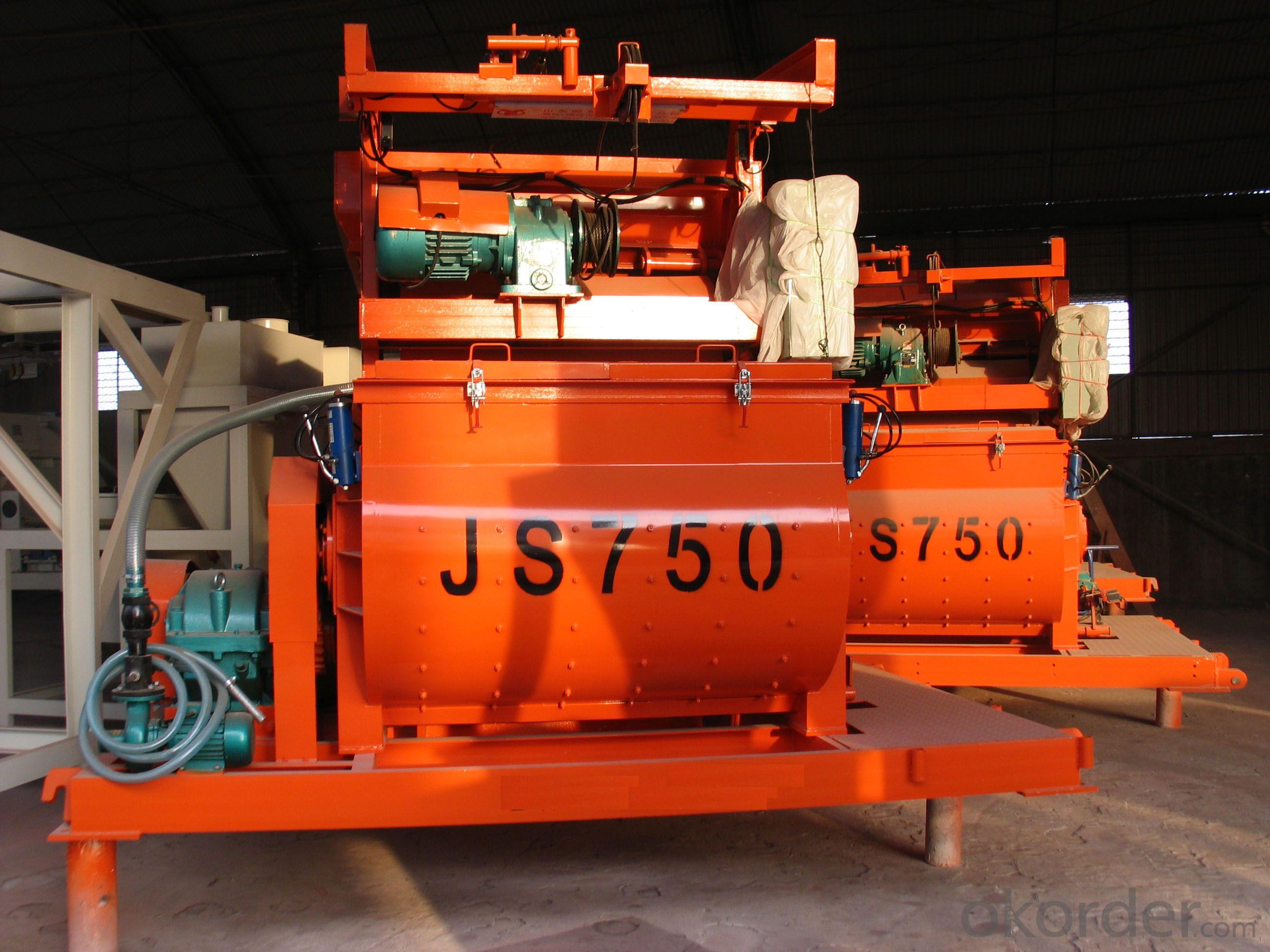 Concrete mixer JS750 / CE & ISO Certificate