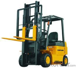 FOUR-WHEEL FORKLIFT load weight 4500kg, Max. fork height 3000mm