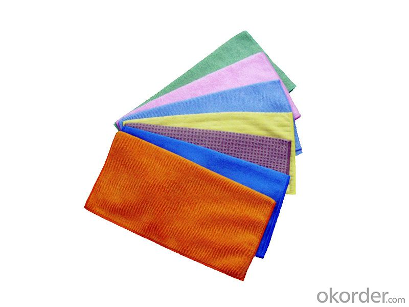 Microfiber cleaning towel with washing band