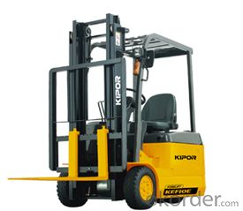 THREE-WHEEL FORKLIFT load weight 1000kg, Max. fork height 3m