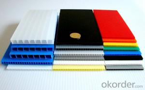 Extruded PP Corrugated Sheet made of 100% virgin PP material