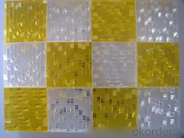 PMMA Crystal Artistic Sheet popular for display shelf decoration