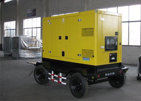 50kva - 800kva Trailer Genset Diesel Generator Double Axle 4 Wheels