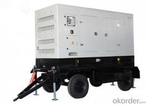 50kva - 800kva Trailer Genset Diesel Generator Double Axle 4 Wheels