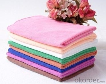 Microfiber cleaning towel with china made