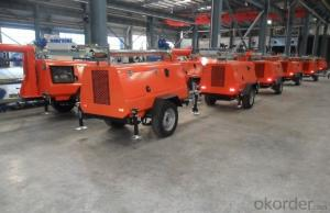 6 kw - 20 kw Mobile Lighting Tower Genset Diesel Generator Set