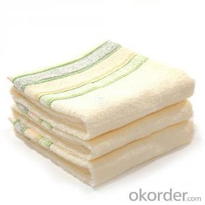 Microfiber cleaning towel with washing labels