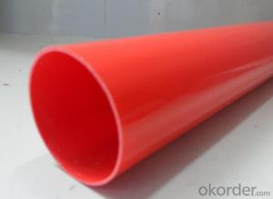 PVC pipe  110MM, ASTM, AS,BS,ISO, GB, various color