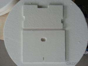 Ceramic insulating board used for hot water heater