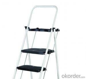 Steel Frame and Plastic Step ladder Wholesale
