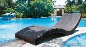 Outdoor Beach Lounger Rattan Beach Chair Chaise Lounger