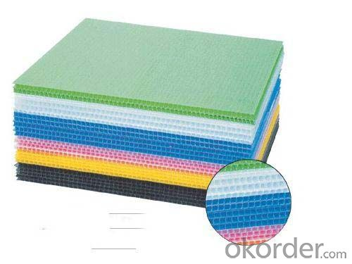 Extruded Polypropylene Corrugated Sheet with different colors