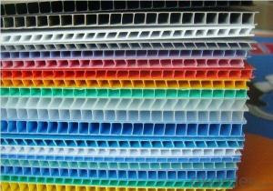 Corrugated Plastic Sheet Made of 100% virgin PP material