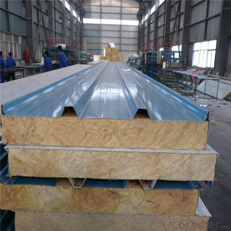 Rock wool sandwich panels for prefabricated houses with best price