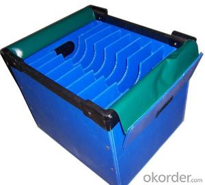 Polypropylene Hollow sheet  Delivery Box with different sizes and colors