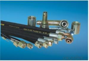 Concrete pump rubber hose, ISO9001:2008, Black NRand BRsynthetic rubber