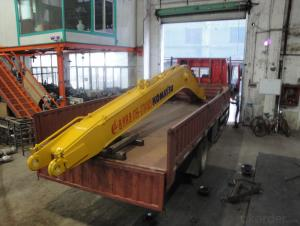 Two-section long-reach boom excavtor long rech boom and arm
