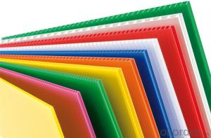 Anti-static PP Hollow Sheet with diffferent thickness and colors