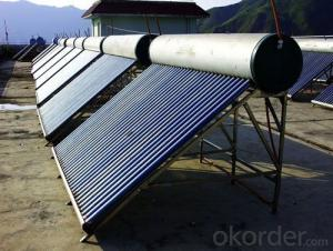 Solar energy preheating system Solar energy with auxiliary energy system