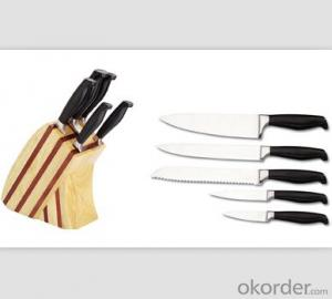 Art no. BLB21 Stainless steel knife set for kitchen