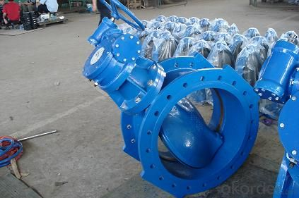 Ductile iron Double Flanged Gate Valve with wormgear
