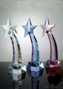 Luxury Colorful crystal awards and wholesale trophy