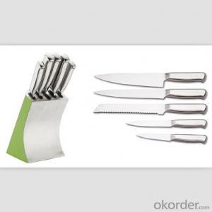 Art no. BLB5 Stainless steel knife set for kitchen