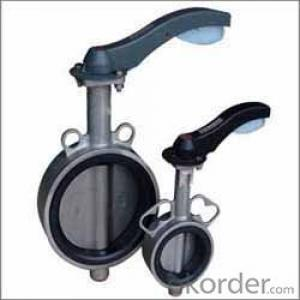 Ductile iron Wafer hand lever Butterfly Valve