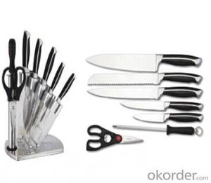 Art no. BLB5 Stainless steel knife set for kitchen