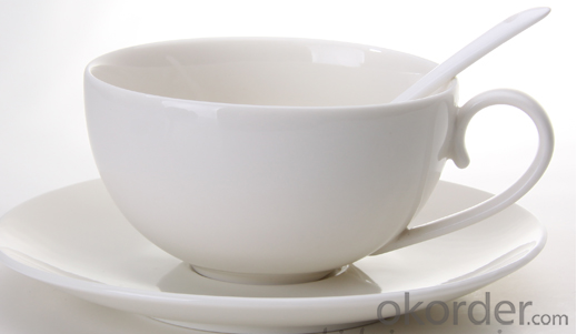 Wholesale Super Plain White Porcelain Coffee And Tea Cup And Saucer Sets