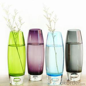 High Quality Colorful Wedding Decorative Hand Blown Glass Vase