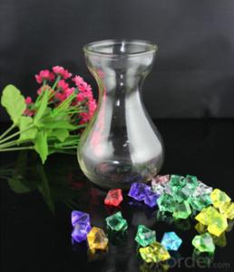 Clear empty glass hyacinth vase wholesale High quality glass vase