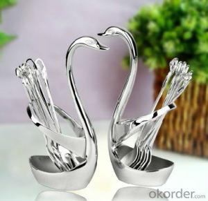 Stainless Steel Creative Swan fork and spoon