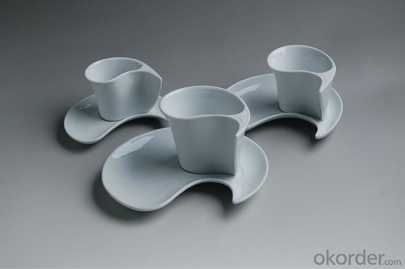 Smart design ceramic coffee cup & saucer