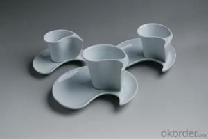 Smart design ceramic coffee cup & saucer