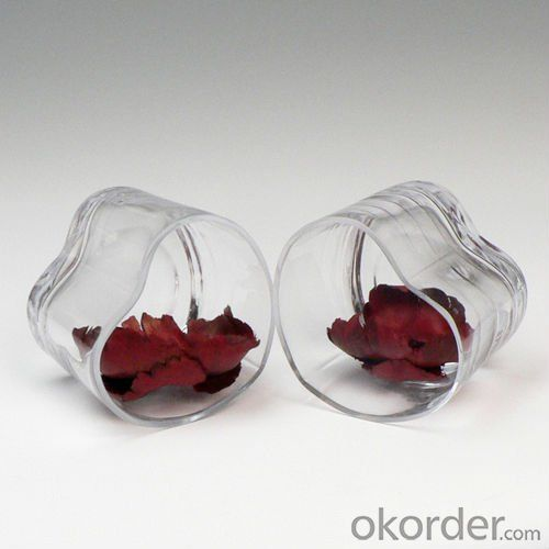 Hot selling glass vases for flower arrangements wedding