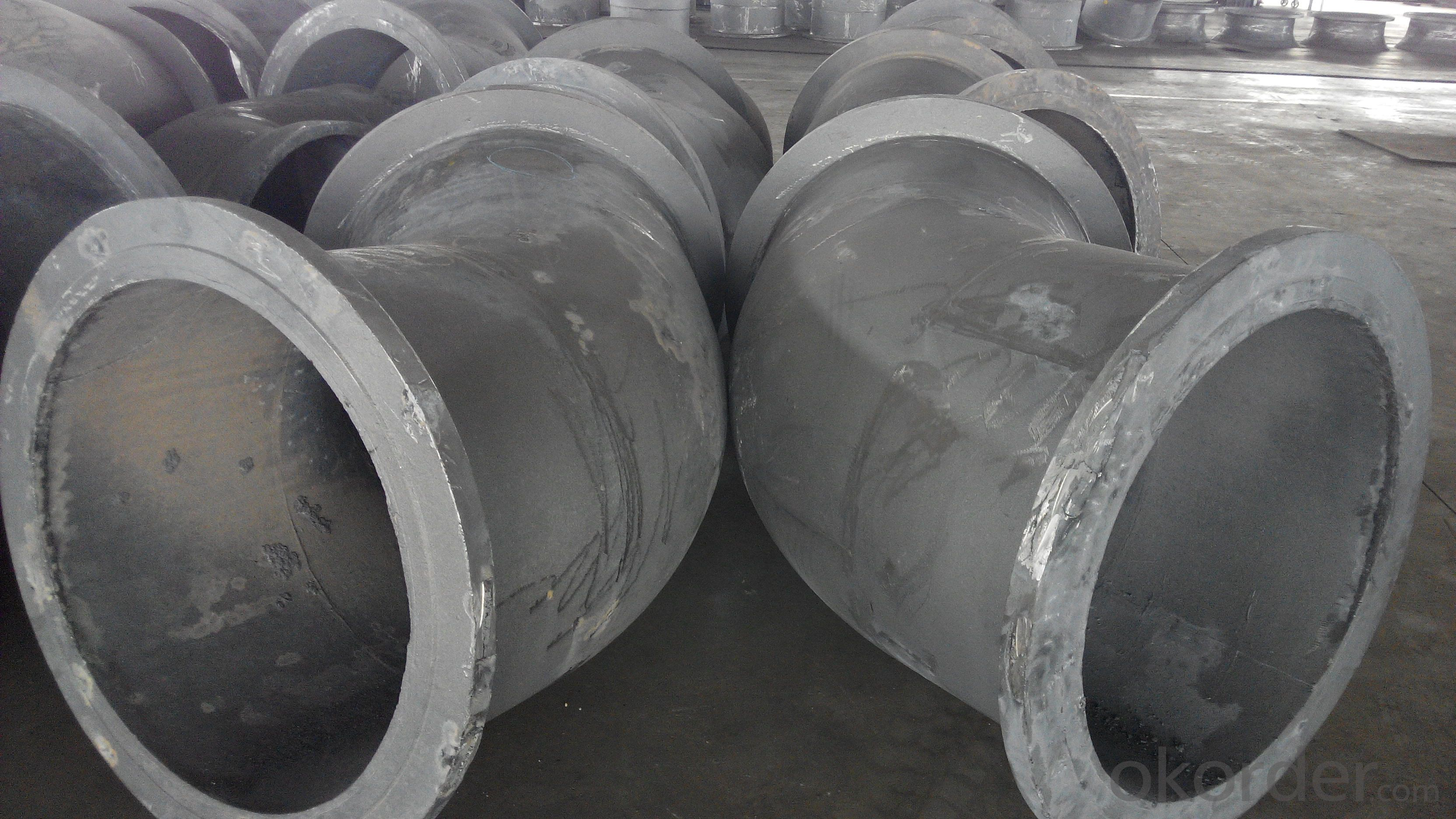 Ductile iron fittings with loose flange